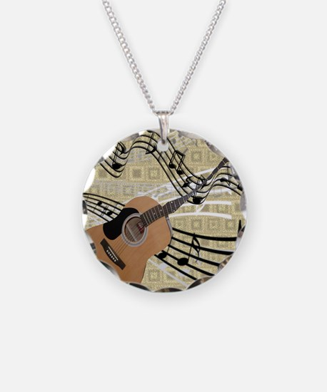 Abstract Guitar Necklace