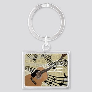 Abstract Guitar Landscape Keychain