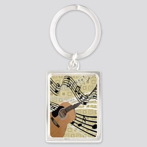 Abstract Guitar Portrait Keychain
