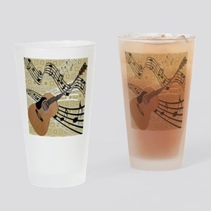 Abstract Guitar Drinking Glass