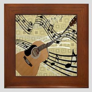 Abstract Guitar Framed Tile