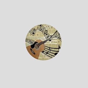 Abstract Guitar Mini Button