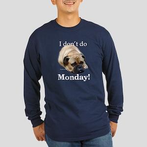 Bullmastiff Monday Long Sleeve Dark T-Shirt