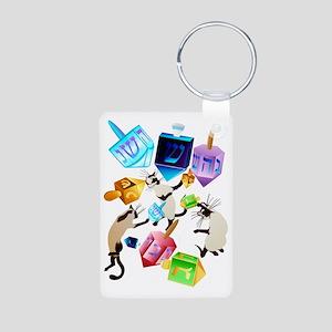 Delightful Dreidels Aluminum Photo Keychain