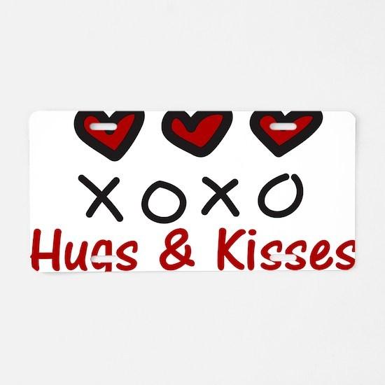 Hugs & Kisses Aluminum License Plate