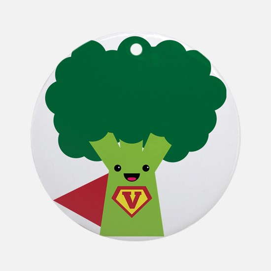Super Brocoli Round Ornament
