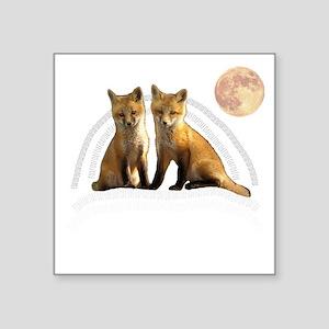 "Fox Fox Square Sticker 3"" x 3"""