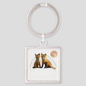Fox Fox Square Keychain