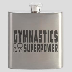 Gymnastics Is My Superpower Flask