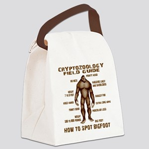 how to spot bigfoot Canvas Lunch Bag