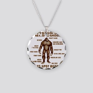 how to spot bigfoot Necklace Circle Charm