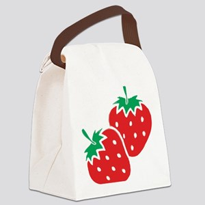 Sweet Strawberries Canvas Lunch Bag