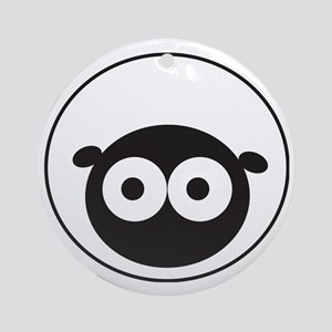 Round Sheep Round Ornament