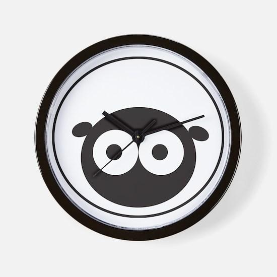 Round Sheep Wall Clock