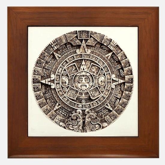 Mayan End of the World 2012 Calendar Framed Tile