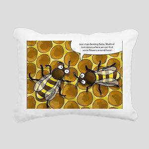 dancing bee Rectangular Canvas Pillow