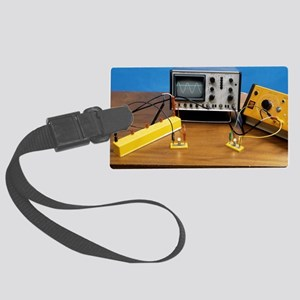Direct and alternating current Large Luggage Tag