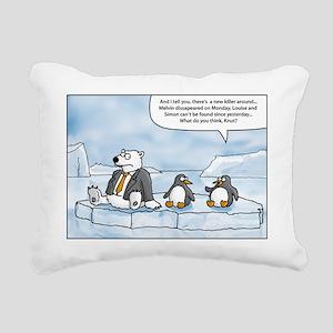 polar bear in secret mis Rectangular Canvas Pillow