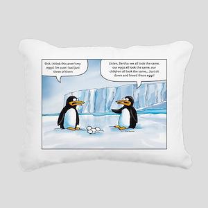 penguin cartoon Rectangular Canvas Pillow