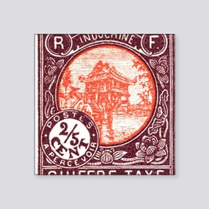 "Indochina 1927 One Pillar P Square Sticker 3"" x 3"""