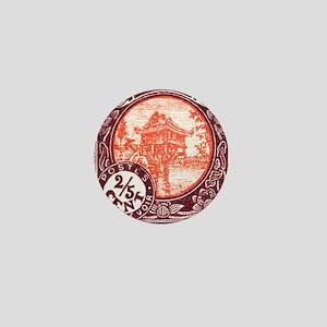 Indochina 1927 One Pillar Pagoda Posta Mini Button