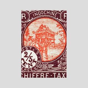 Indochina 1927 One Pillar Pagoda  Rectangle Magnet