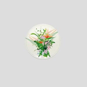 Beautiful Flowers Mini Button