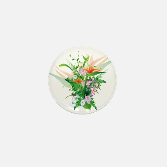Beautiful Flowers Mini Button
