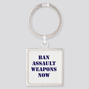 Ban Assault Weapons Now Square Keychain