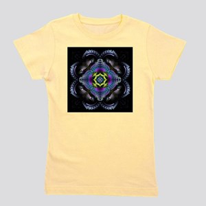 Dark Leather Fractals Girl's Tee