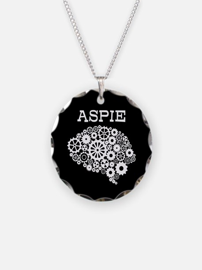 Aspie Brain Autism Necklace