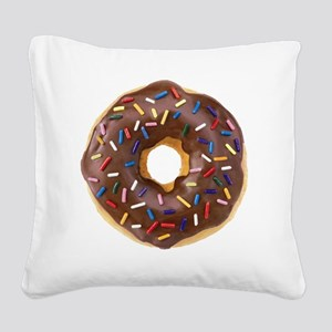 Doughnut Lovers Square Canvas Pillow
