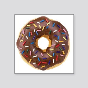 "Doughnut Lovers Square Sticker 3"" x 3"""