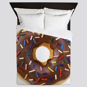 Doughnut Lovers Queen Duvet