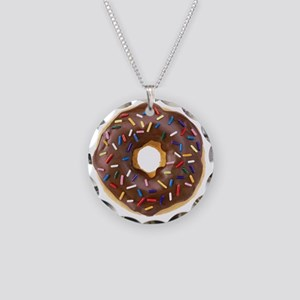 Doughnut Lovers Necklace Circle Charm