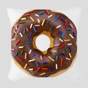 Doughnut Lovers Woven Throw Pillow