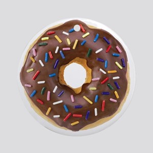 Doughnut Lovers Round Ornament