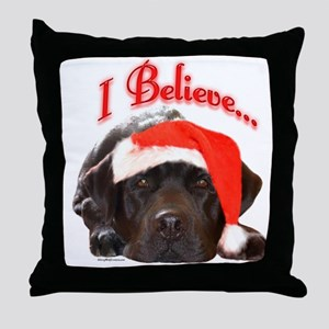 Lab I Believe Throw Pillow
