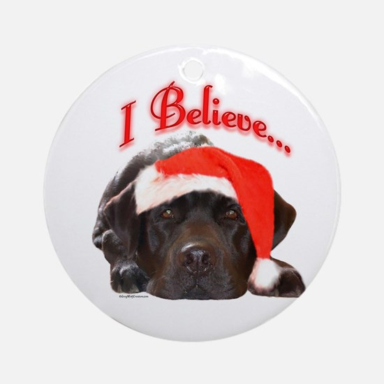 Lab I Believe Ornament (Round)