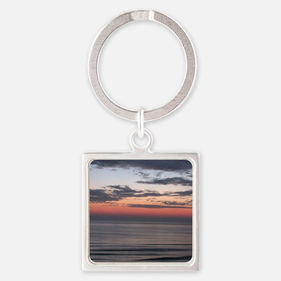 Virginia Dawn Square Keychain