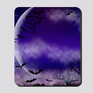 Purple Full Moon  Bats Night Mousepad
