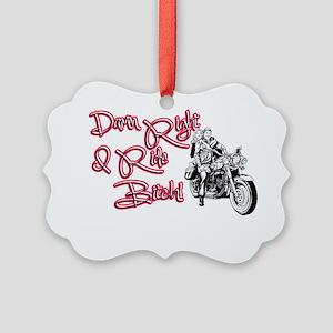 Riding Bitch Picture Ornament