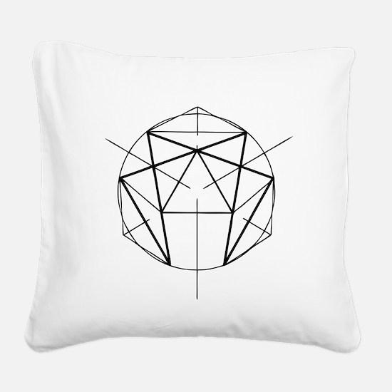 Enneagram Square Canvas Pillow