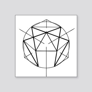 "Enneagram Square Sticker 3"" x 3"""