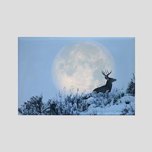 Mule deer moon Rectangle Magnet