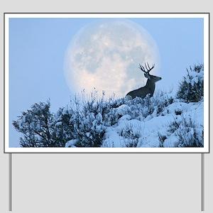 Mule deer moon Yard Sign