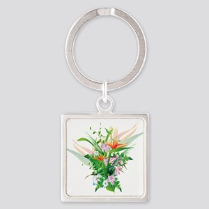 Beautiful Flowers Keychains