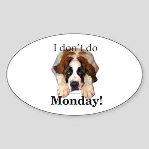 Saint Monday Oval Sticker
