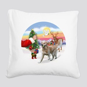 Treat for a Golden (K1) Square Canvas Pillow