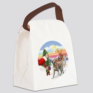 Treat for a Golden (K1) Canvas Lunch Bag